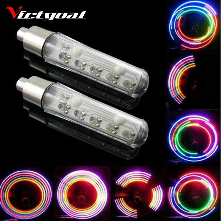 VICTGOAL חישורים צור Tire Valve Caps MTB אורות אופני אור גלגל LED אופניים אור אביזרי רכיבה על אופניים הרי כביש N1051
