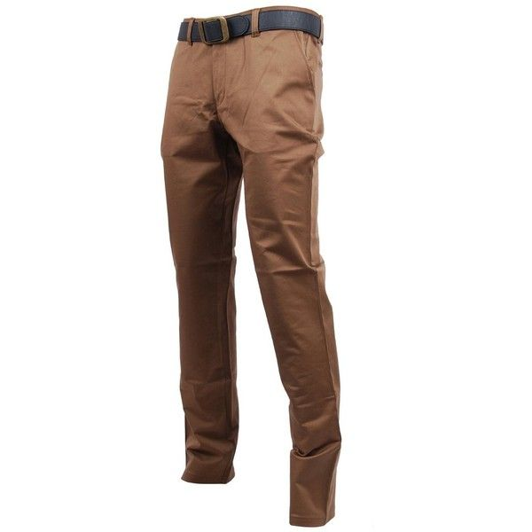 FLATSEVEN Mens Slim Fit Chino Pants Trouser Premium Cotton (565 MXN) ❤ liked on Polyvore featuring men's fashion, men's clothing, men's pants, men's casual pants, male clothes, mens slim fit chino pants, mens chinos pants, mens slim pants, mens pants and mens cotton pants