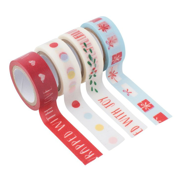 #kikkik Turn your #Christmas gift wrapping into something special with unique Printed Paper Tape. #giftwrapping #wonderfulchristmas #papertape