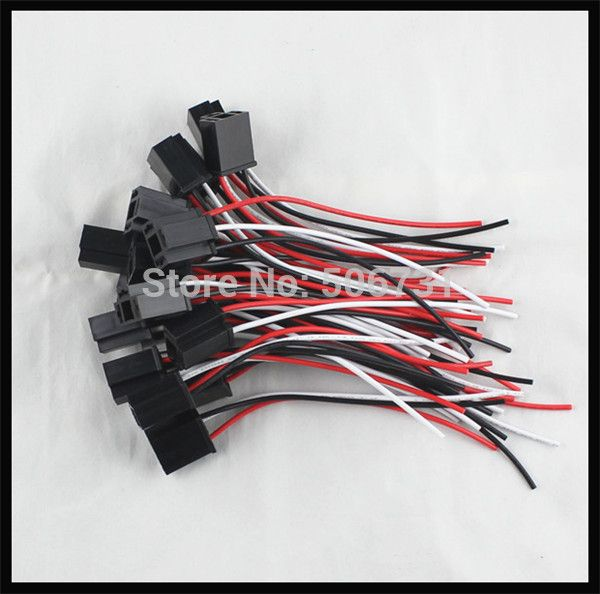 Plastic plug auto H4 socket for H4 LED headlight lights