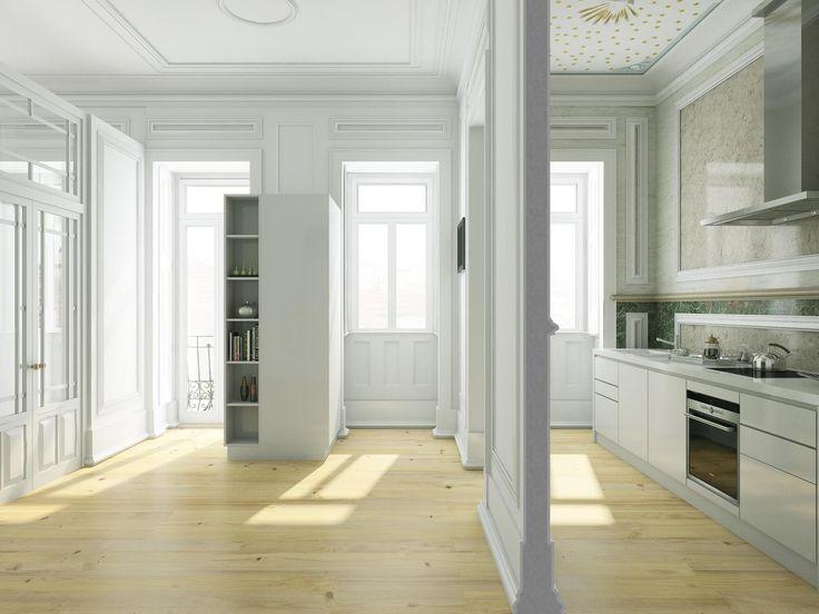 Apartamento  de Luxo 3 quartos / Lisboa, Lapa - APARTAMENTO 5 - O empreendimento Lapa 111 espelha todo o encanto do acolhedor bairro da Lapa. O reflexo de uma zona histórica da cidade, onde viver é também um estado de alma. A manutenção da traça antiga mistura-se com a linguagem contemporânea da nova fachada, conferindo-lhe um ambiente único e exclusivo. O projecto consiste de 6 magnificos apartamentos T3-T4, como tambem uma moradia de 6 quartos. O condominio oferece tambem varios espaços…