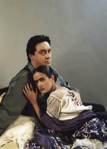 Alred Molina and Selma H.  Frida Movie