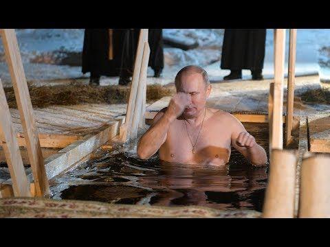Vladimir Putin desafió el frío extremo y se sumergió en aguas congeladas