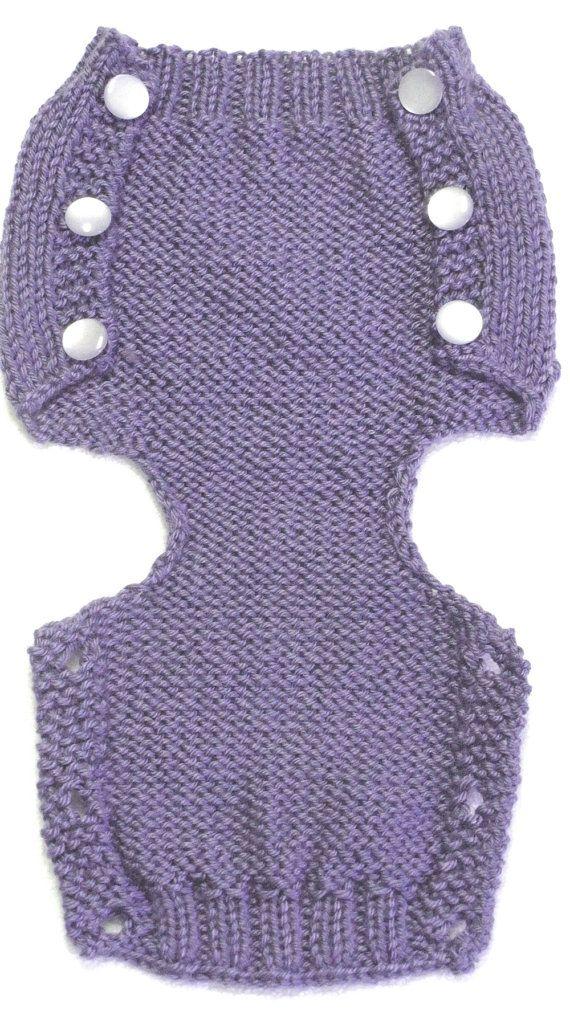 Diaper Cover Knitting Pattern PDF Medium 3 to 6 por ezcareknits
