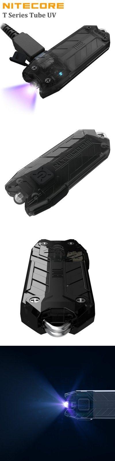 LED Flashlights | Nitecore T Series TUBE UV USB Rechargeable LED Keychain Light $12.95