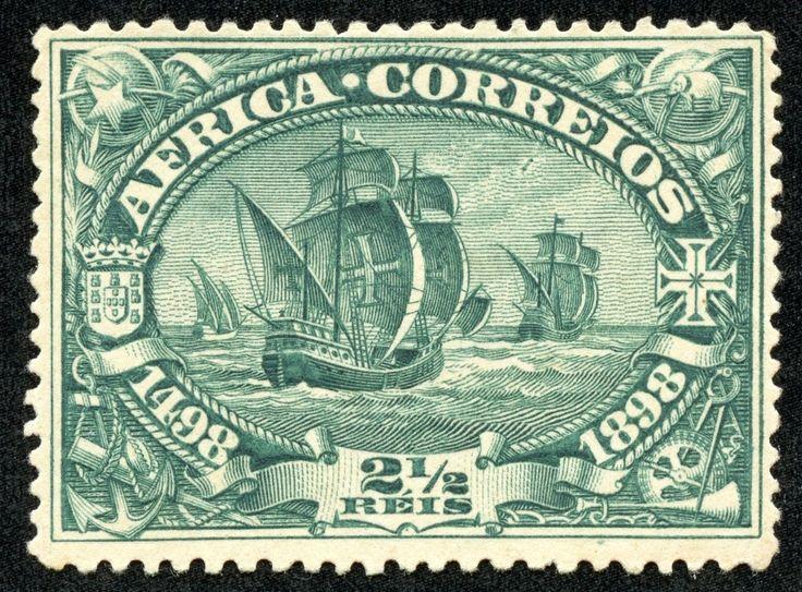 "Portuguese Africa 1898 ""Fleet Departing"" Vasco da Gama Fourth Centenary"