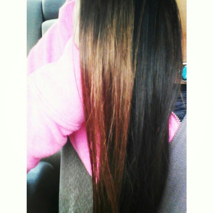 Red Light Brown On Top Dark Underneath Fallhair Hair