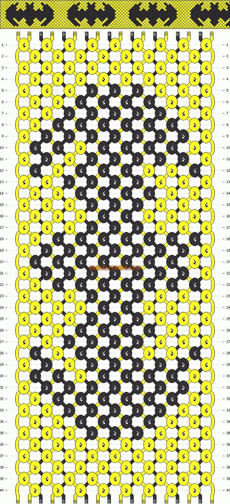 Normal Friendship Bracelet Pattern #1008 - BraceletBook.com