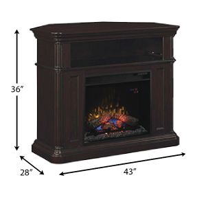 Oakfield Wall/Corner Infrared Electric Fireplace Media Center in Espresso - 23DE8202-E451