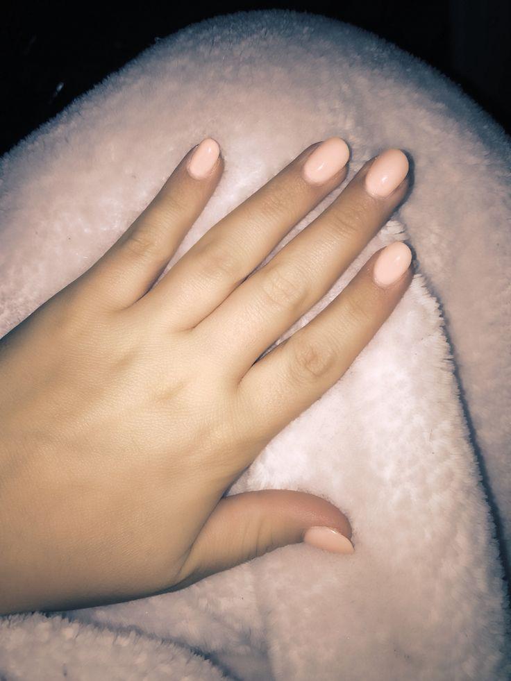 Nexgen nails, aka rockstar nails. Peach, and rounded,   Perfect natural look