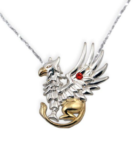 Griffin's Gift Gold and Silver Pendant Necklace Eastgate. Save 34 Off!. $59.00. Griffin designed by artist Anne Stokes, Swarovski crystals and .925 sterling silver, includes chain. lifetime warranty, satisfaction guaranteed. comes gift boxed, ships immediately