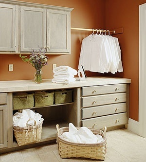 cubby for laundry baskets