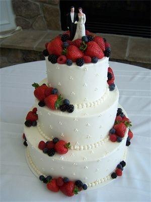 berry wedding cake strawberry wedding fruit wedding wedding cakes ...