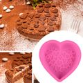 Birthday Cake Mould Big Heart Shaped Silicone Cake Mold Baking Tools for Cakes Heart Pizza Molds Bakeware for Big Muffin Moulds