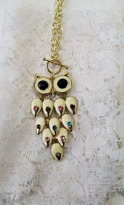 Owl+Gold+Chain+Necklace