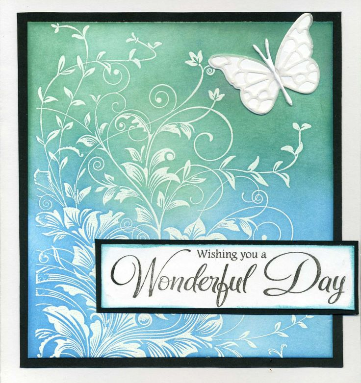Hero Arts Leafy Vines.  Leafy vine stamp, embossing and distress inks