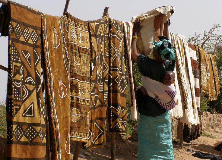 Mud cloth Bogolan Mali African fabric African textiles
