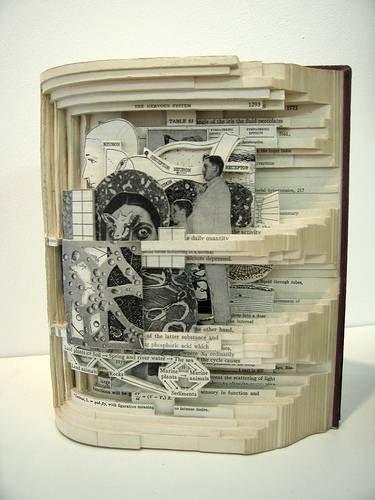 Book Art- Book Autopsies - Brian DettmerArtbrian Dettmer, Book Art, Amazing Artworks, Art Paper, Amazing Book, Autopsy Art, Art Book, Altered Book, Book Autopsy