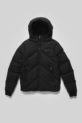 Huffer - Womens Classic Down Jacket, Black by Huffer | Trouble & Fox + Sidecar | Mens & Womens Clothing Online - New Zealand