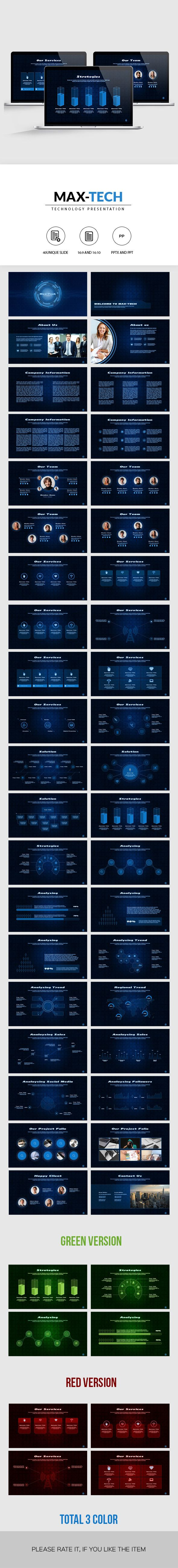Max-Tech | Technology PowerPoint Presentation - Business PowerPoint Templates