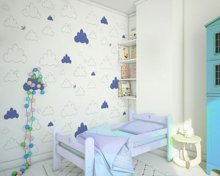 clouds hdrd, wallpaper by Humpty Dumpty Room Decoration, HDRD, interior design by Fajnodesign.by
