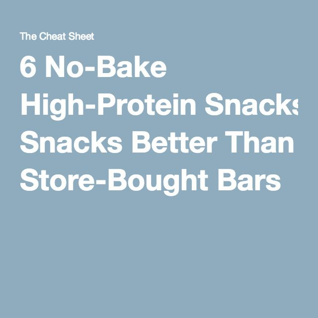 6 No-Bake High-Protein Snacks Better Than Store-Bought Bars