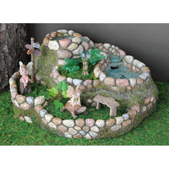 Fairy Waterfall Planter Stone Statue