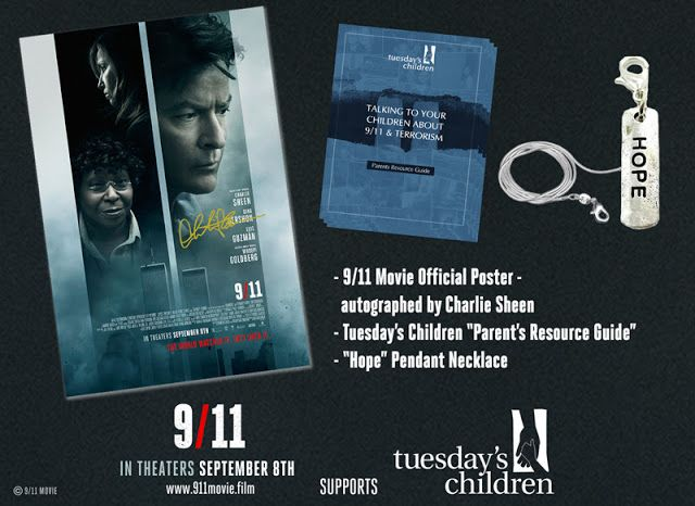 Charlie Sheen 9/11 Giveaway, movies, reviews, 9/11, films, giveaway, charlie sheen, whoopi goldberg