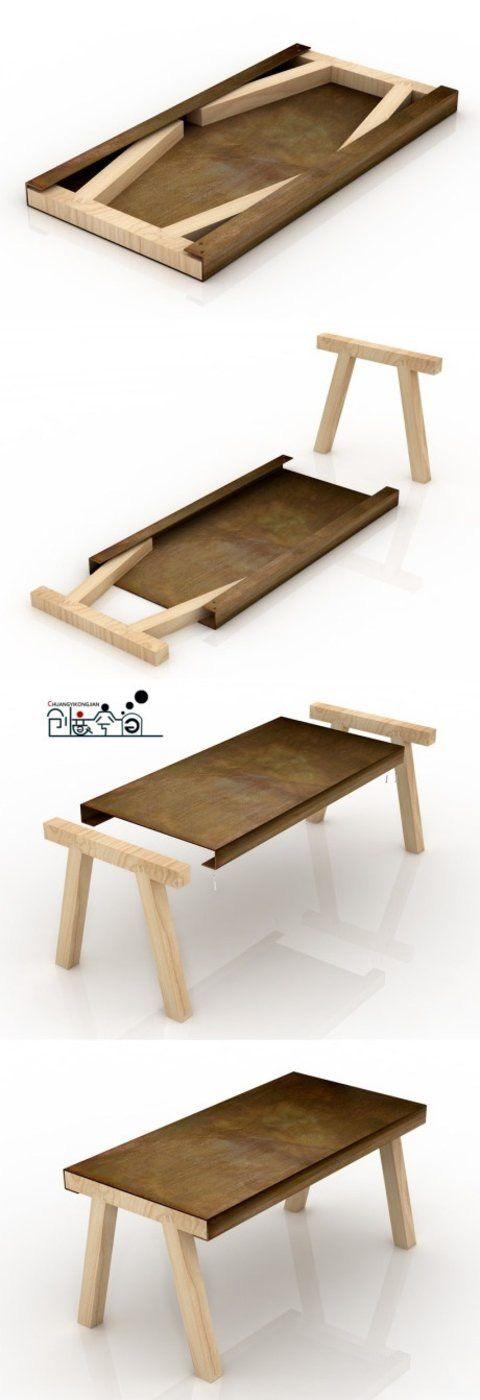 Tavolo da esterno scomponibile... geniale!