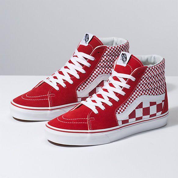 Mix Checker Sk8 Hi | Shop in 2019 | Red checkered vans
