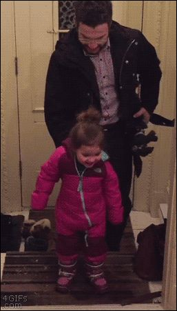 Dad invents easy life hack for removing his kid's winter boots. http://www.tastefullyoffensive.com/2016/01/dad-invents-easy-life-hack-for-removing.html