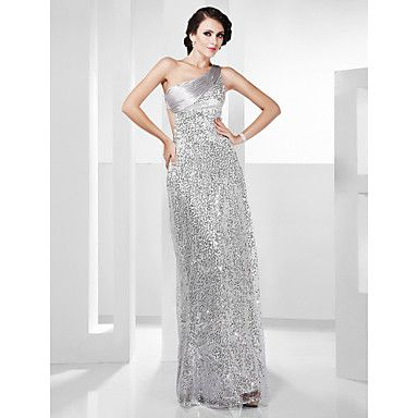 Sheath/+Column+One+Shoulder+Floor-length+Sequined+Evening+Dress+–+GBP+£+82.12