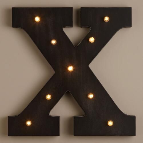Letter X LED Battery Operated Marquee Light