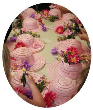 Tea Party Adventures......Tea Party Hat Decorations #talkingtables #childrens