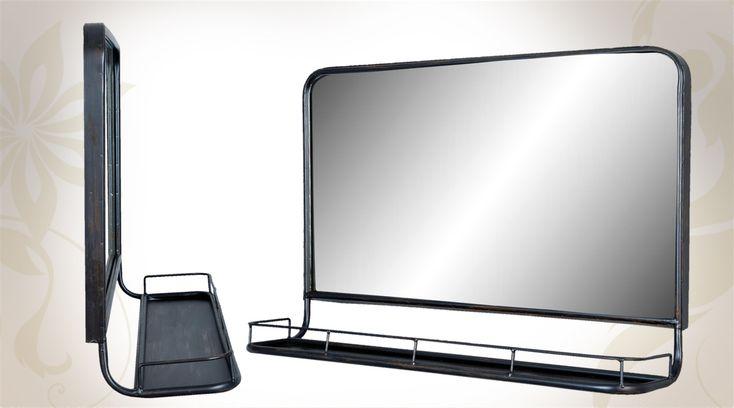 1000 id es sur le th me miroir industriel sur pinterest for Miroir noir metal