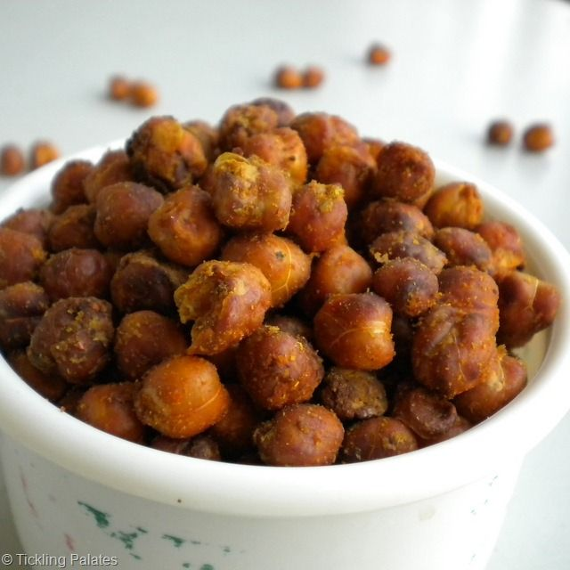 Baked Chick Peas, Omit the sugar and we're good to go!