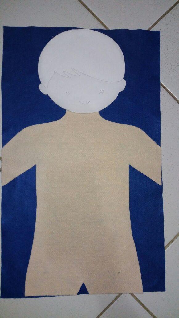 Faça você mesmo: um corpo humano de feltro