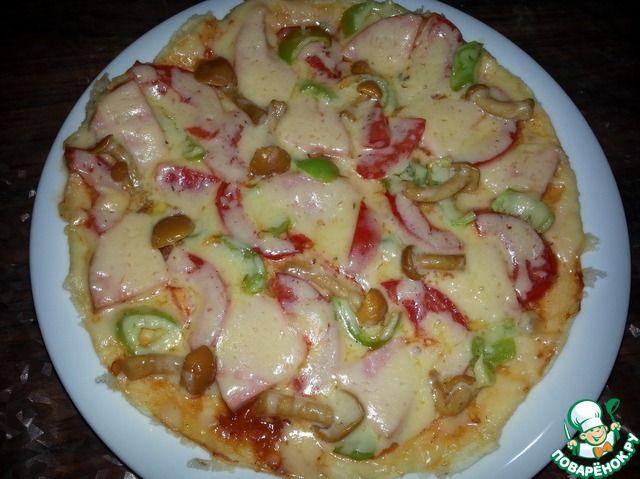 Пирог на сковороде за 5 минут - кулинарный рецепт