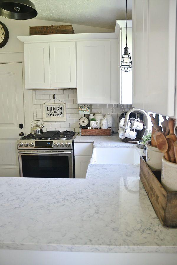 quartz countertop review pros cons countertops quartz countertops and love. Black Bedroom Furniture Sets. Home Design Ideas
