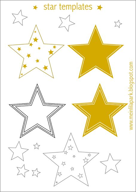 FREE printable star templates + 16 last-minute DIY christmas decoration ideas with free printables and tutorials