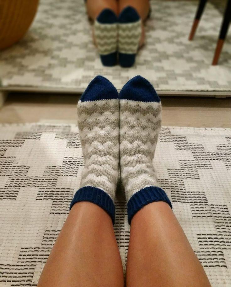 Miehen siksak -sukat.