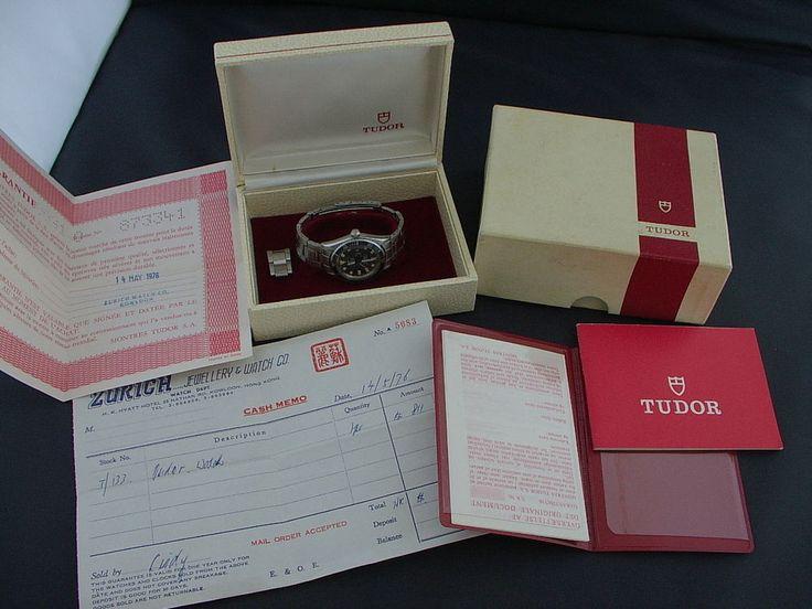 ROLEX TUDOR SUBMARINER 9091/0 COMPLETE BOX SET, FABULOUS DIAL!! #ROLEXTUDOR