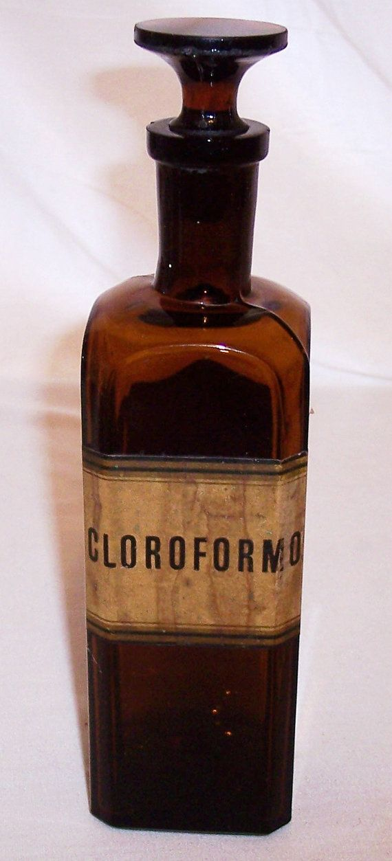 Antique apothecary bottle BIMAL amber w/stopper by AntiqueAddicts.