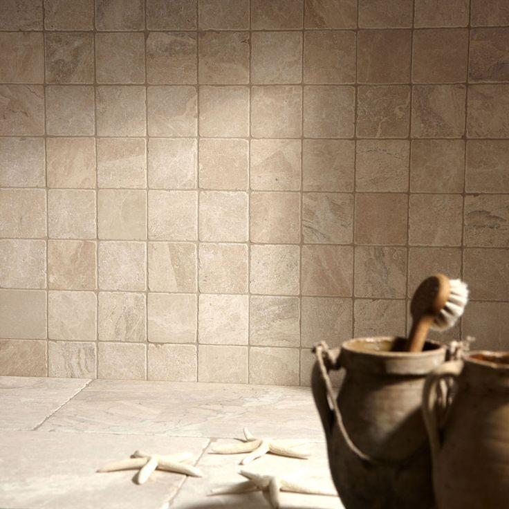 Belize tumbled marble - shower floor
