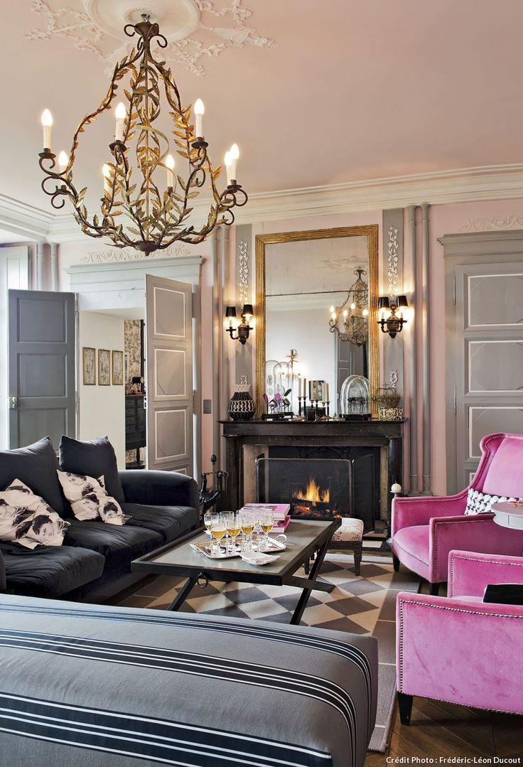 252 best salon living room images on pinterest lounges for Salon maison de campagne