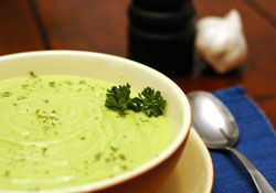 RAW AVOCADO AND CUCUMBER SOUP-Candida Diet    2 Large Avocados  1/2 cucumber  1/4 onion  1/2 cup plain yogurt  2 garlic cloves  1 cup and a half cold water  Salt and Pepper to taste  Scoop out avocado flesh, cut up cucumber, add everything else to the blender. 2 servings.