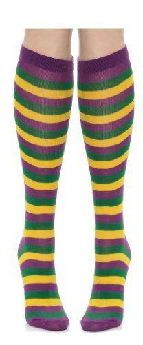 Mardi Gras Striped Socks - Purple / Green/ Yellow , http://www.amazon.com/dp/B009MFI4FC/ref=cm_sw_r_pi_dp_Tzojsb0DVJ5W6