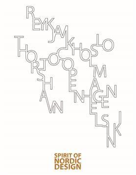 Plakat Spirit of Nordic Design 50x70 cm.