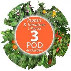 Custom Tomato Pepper Seed Pod Kit For 3 Pod Aerogardens 400 x 300
