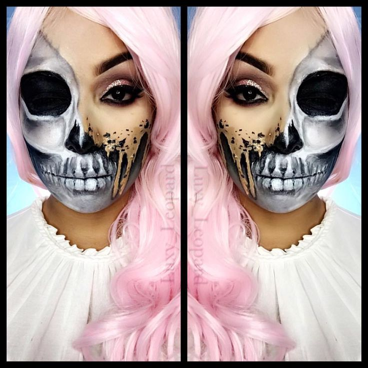 see this instagram photo by luxy_leopard halloween fxmakeup skeleton face paint - Skeleton Face Paint For Halloween